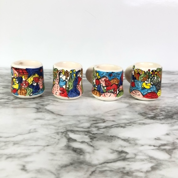 Made in Mexico Other - Set of 4 Cups or Shot Glasses Made in Mexico